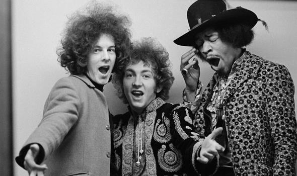 The Jimi Hendrix Experience: Noel Redding, Mitch Mitchell e Jimi Hendrix