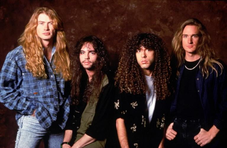 Megadeth em 1992, com sua formação clássica: Dave Mustaine, Nick Menza, Marty Friedman e David Ellefson