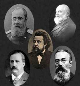 Grandes compositores russos: Mussorgsky (centro)