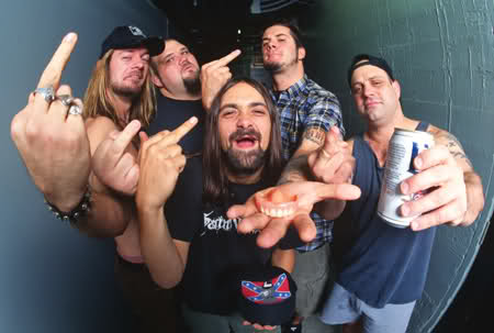 Down em 1995: Pepper Keenan, Todd Strange, Jimmy Bower, Phil Anselmo e Kirk Windstein