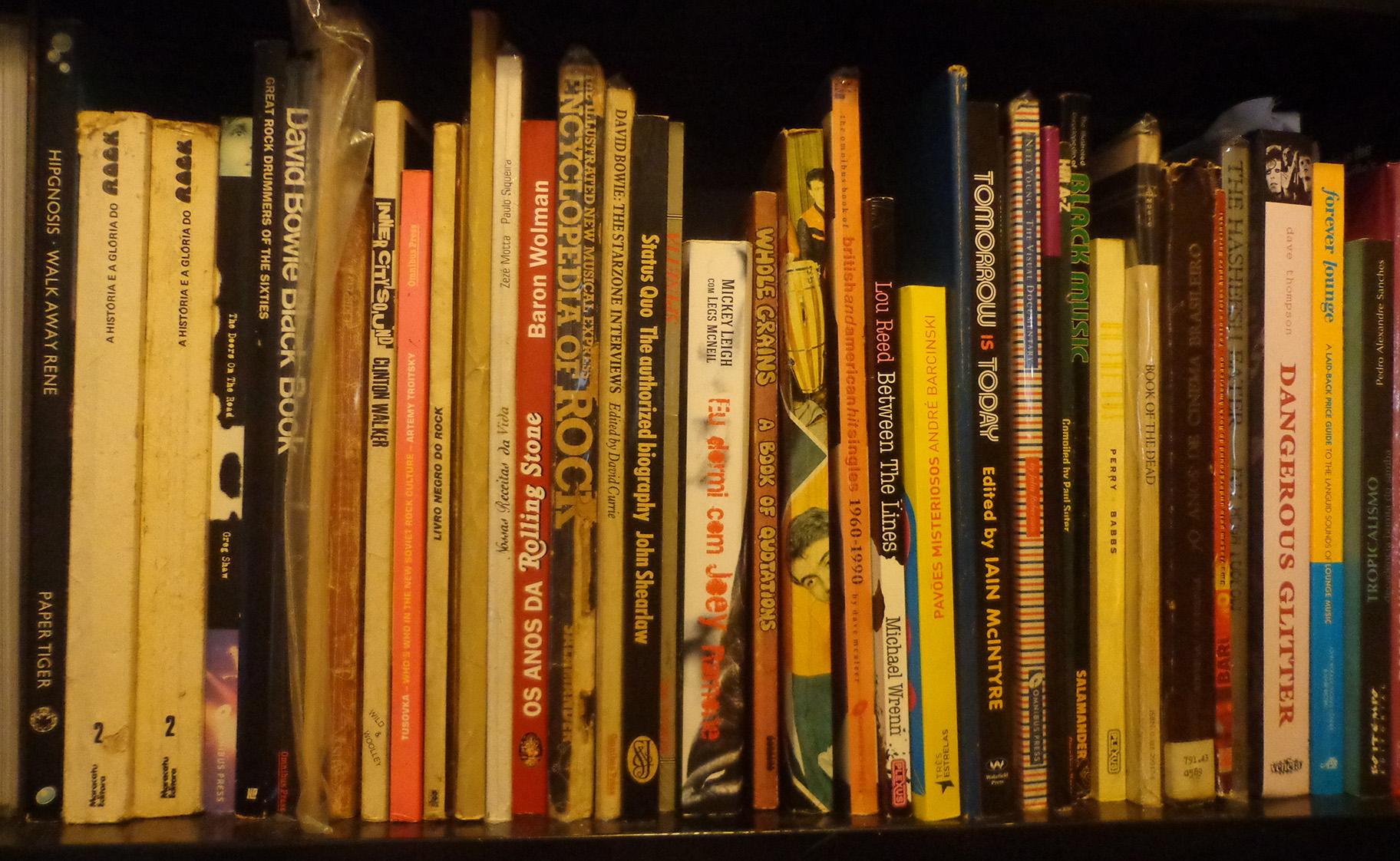 Parte dos livros.