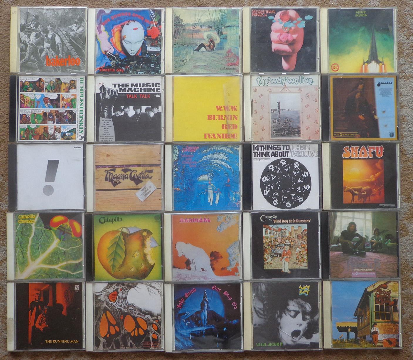 Alguns CDs do selo alemão Repertoire. Tenho por volta de 120 títulos diferentes.