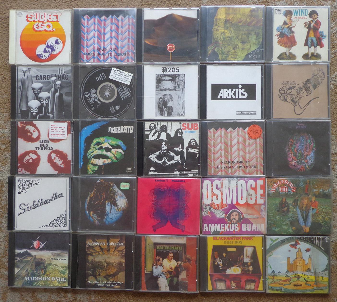 Alguns CDs de bandas alemãs.