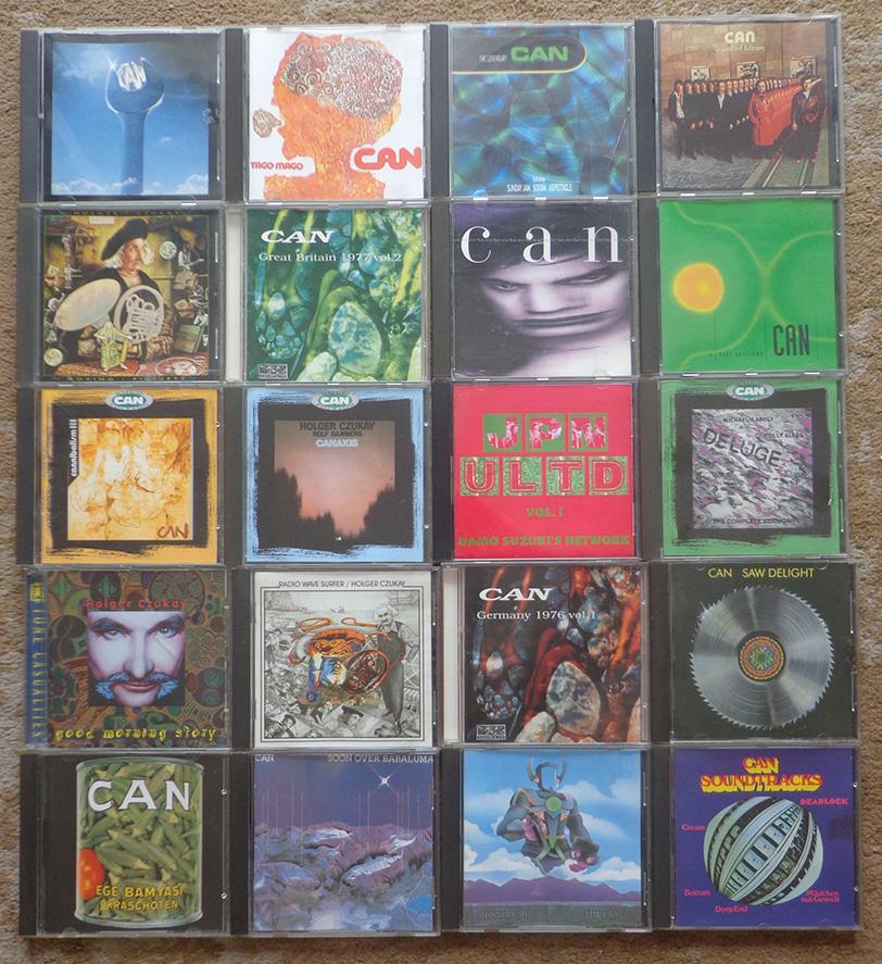 Parte da minha coleção em CD do Can.