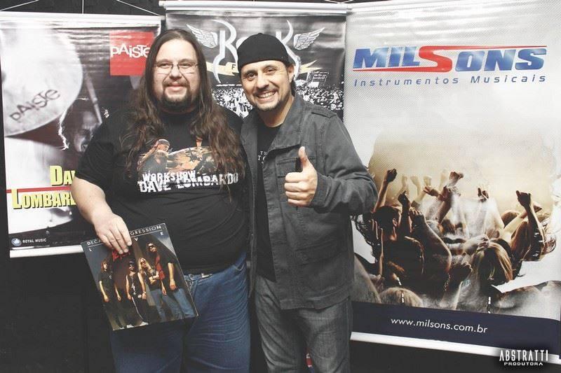 Com três gigantes do rock mundial: Glenn Hughes (acima), Rafael Bittencourt (centro) e Dave Lombardo (abaixo)