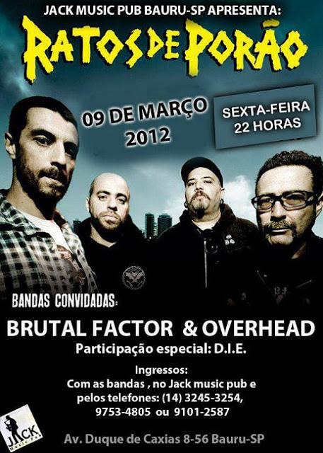 Review Exclusivo: Ratos de Porão (Bauru, 9 de março de 2012)