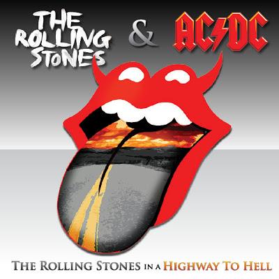Notícias Fictícias Que Gostaríamos Que Fossem Reais: Rolling Stones e AC/DC gravam discos juntos!