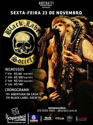 Review Exclusivo: Black Label Society (Porto Alegre, 23 de novembro de 2012)
