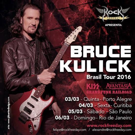 Review Exclusivo: Bruce Kulick Brasil Tour (Porto Alegre e São Paulo, 03 e 05 de março de 2016)