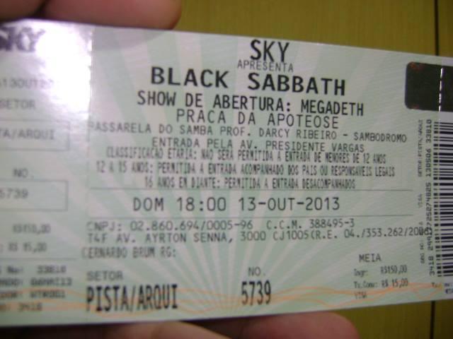 ingresso black sabbath