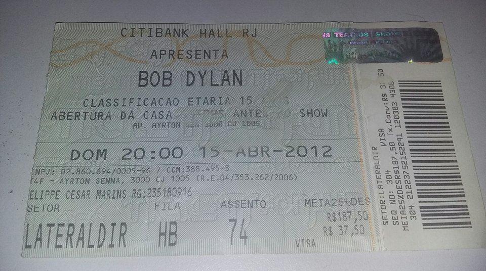 ingresso bob dylan